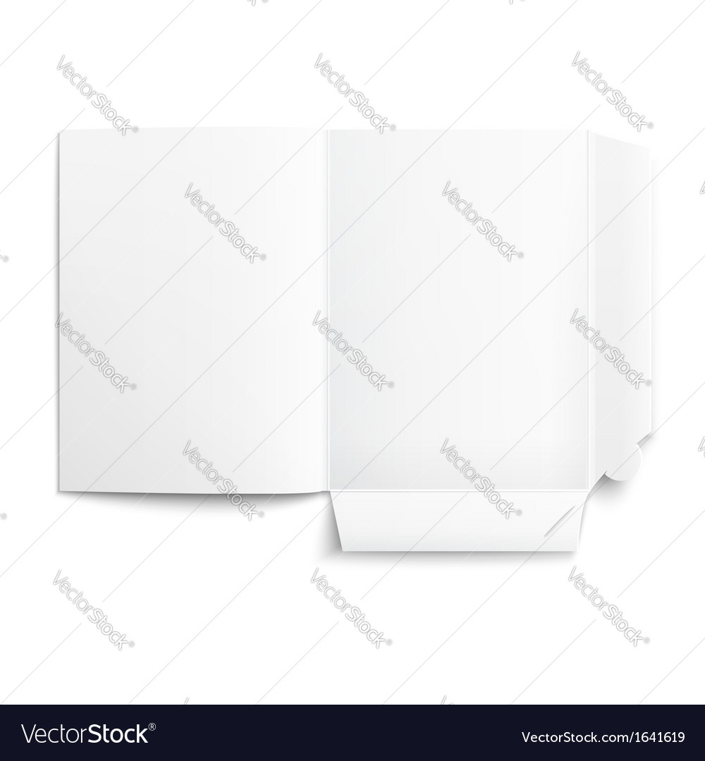 White empty unfolded folder vector | Price: 1 Credit (USD $1)