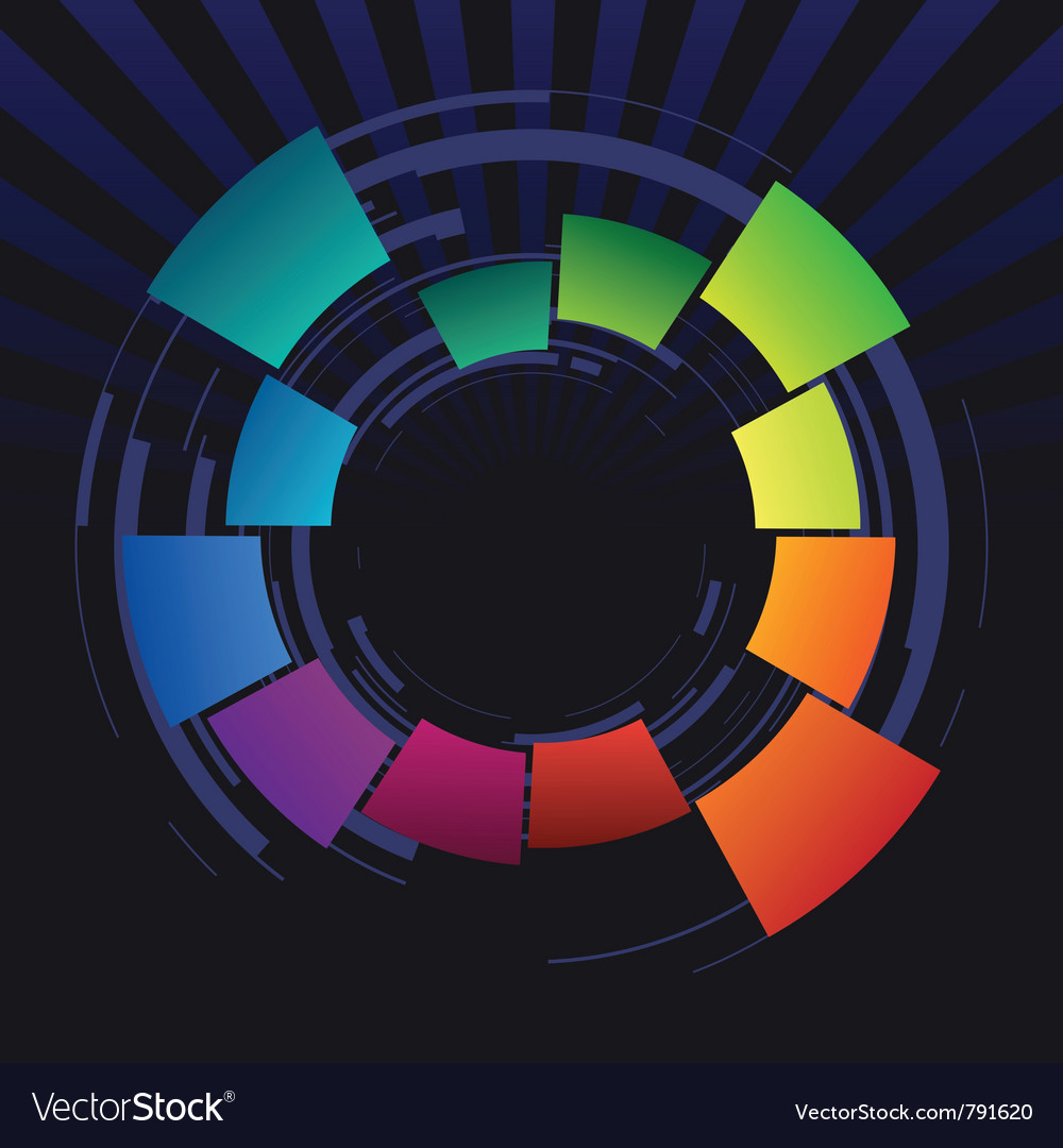 Abstract coloured ring vector | Price: 1 Credit (USD $1)