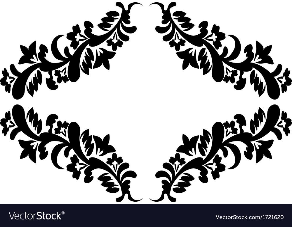 Black floral pattern vector | Price: 1 Credit (USD $1)