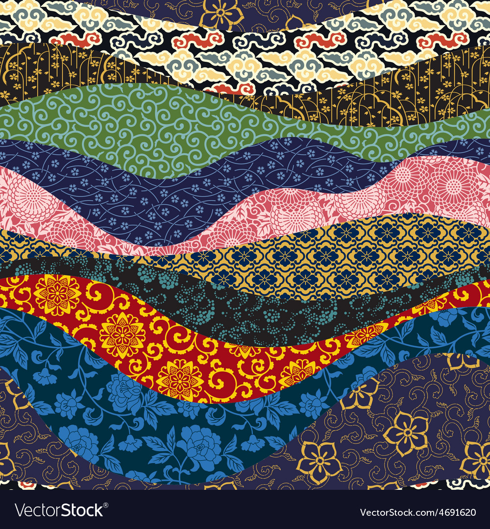 Chinese patchwork vector | Price: 1 Credit (USD $1)
