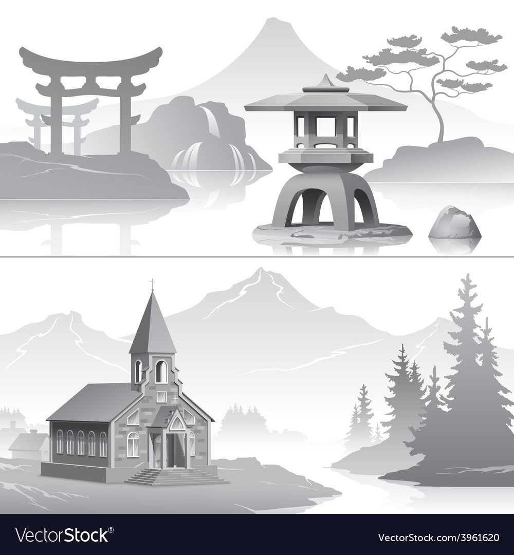 East and west vector | Price: 3 Credit (USD $3)