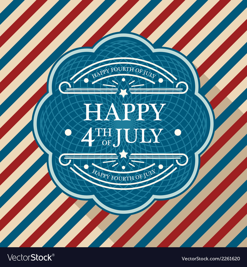 Fourth of july poster vector | Price: 1 Credit (USD $1)
