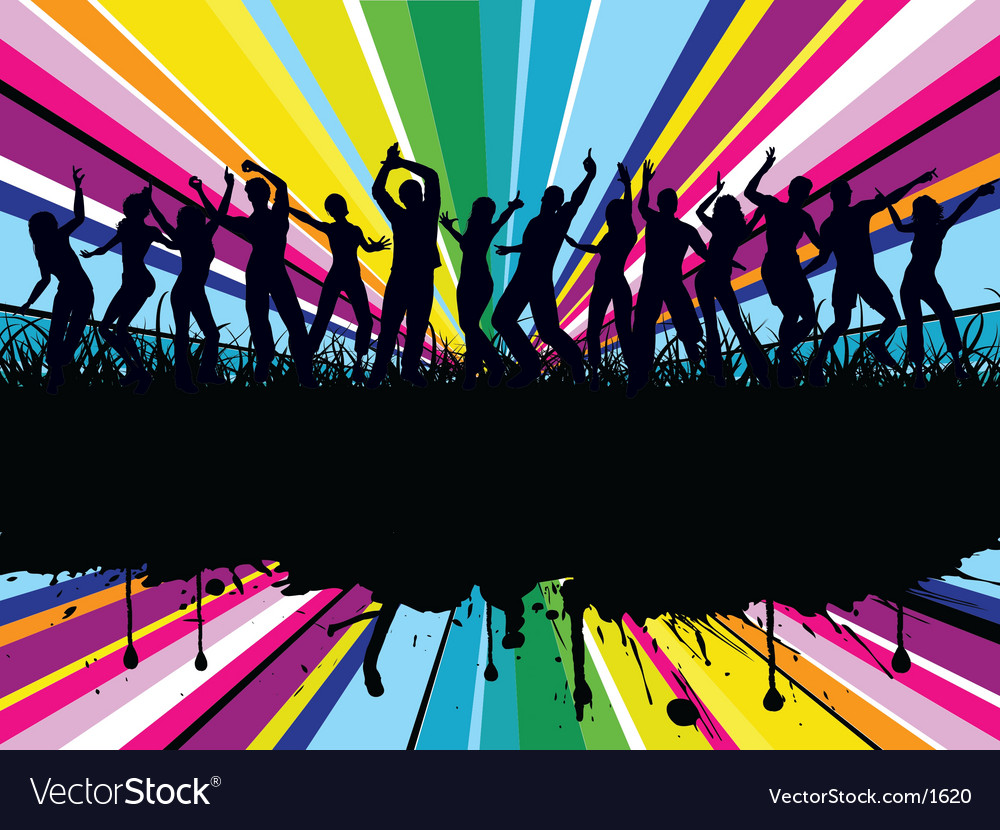 Grunge party time vector | Price: 1 Credit (USD $1)