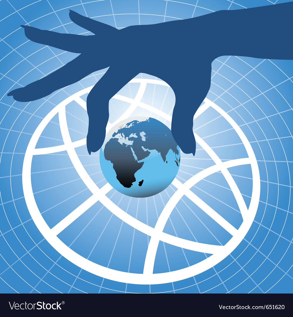 Hand holding planet vector | Price: 1 Credit (USD $1)
