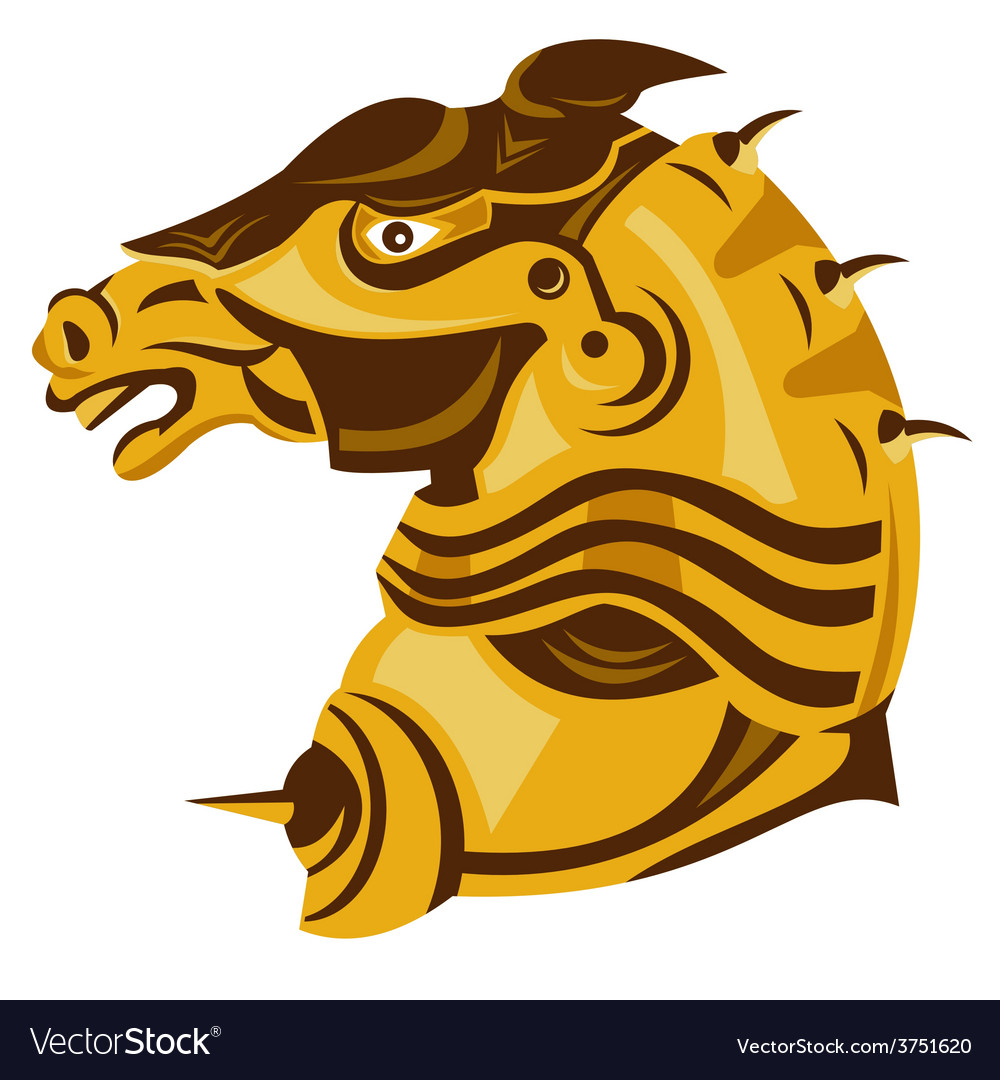 Horse armored head side vector | Price: 1 Credit (USD $1)