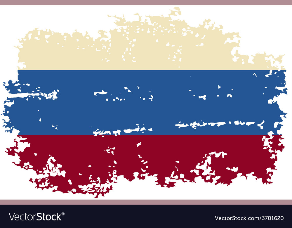 Russian grunge flag vector   Price: 1 Credit (USD $1)