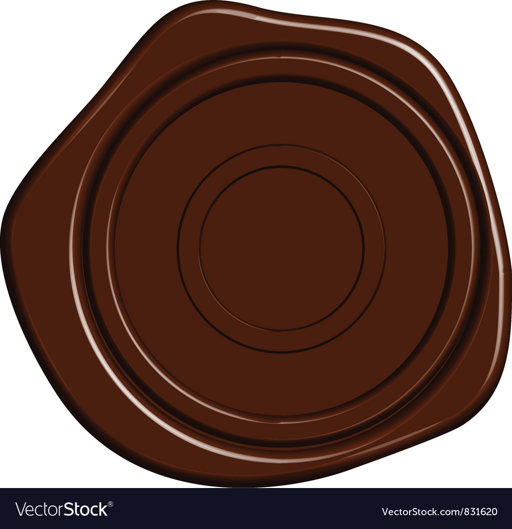 Sealing wax stamp vector | Price: 1 Credit (USD $1)