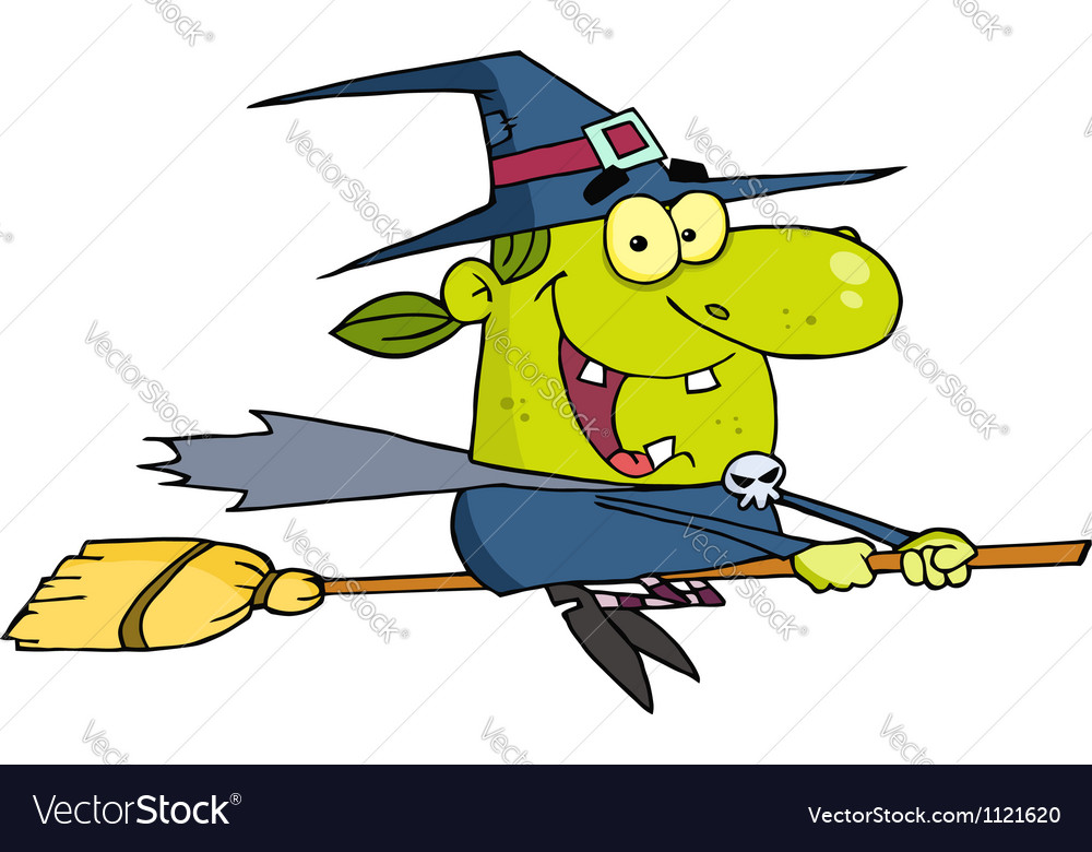 Wicked halloween witch flying vector | Price: 1 Credit (USD $1)