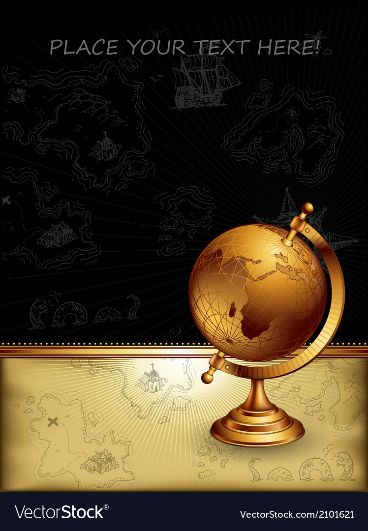 Ancient globe vector | Price: 1 Credit (USD $1)