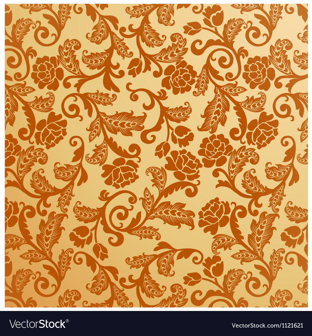 Antique seamless floral pattern vintage vector | Price: 1 Credit (USD $1)