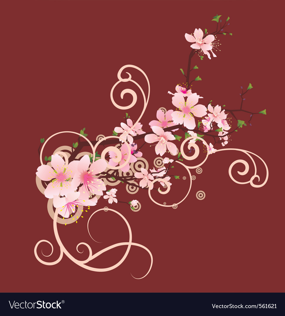 Blossom cherry vector | Price: 1 Credit (USD $1)