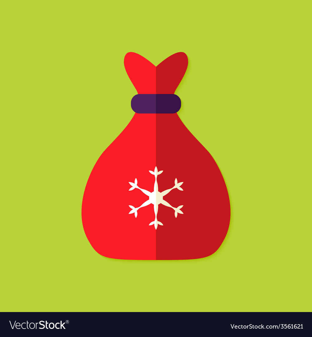 Christmas bag flat icon vector | Price: 1 Credit (USD $1)
