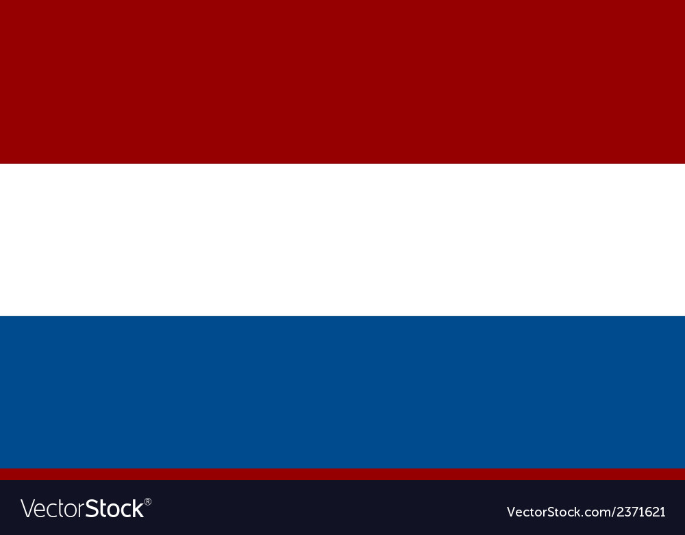 Flag of the netherlands vector | Price: 1 Credit (USD $1)