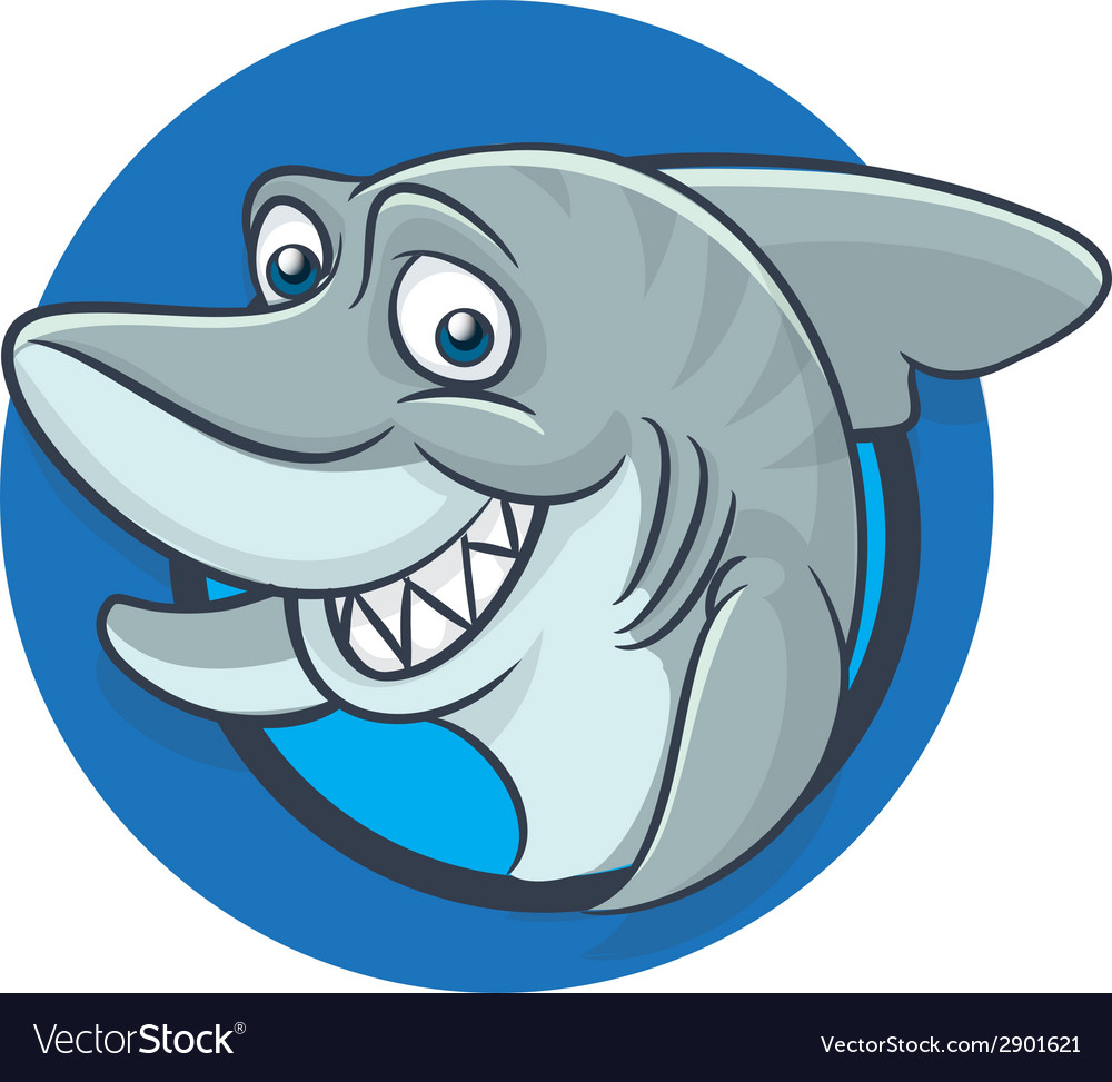 Funny shark mascot vector | Price: 1 Credit (USD $1)