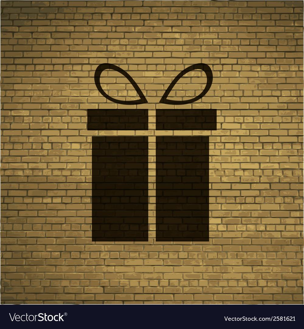 Gift web icon flat design vector | Price: 1 Credit (USD $1)