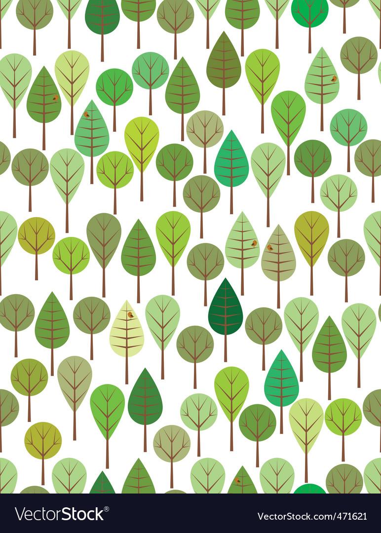 Green woods vector