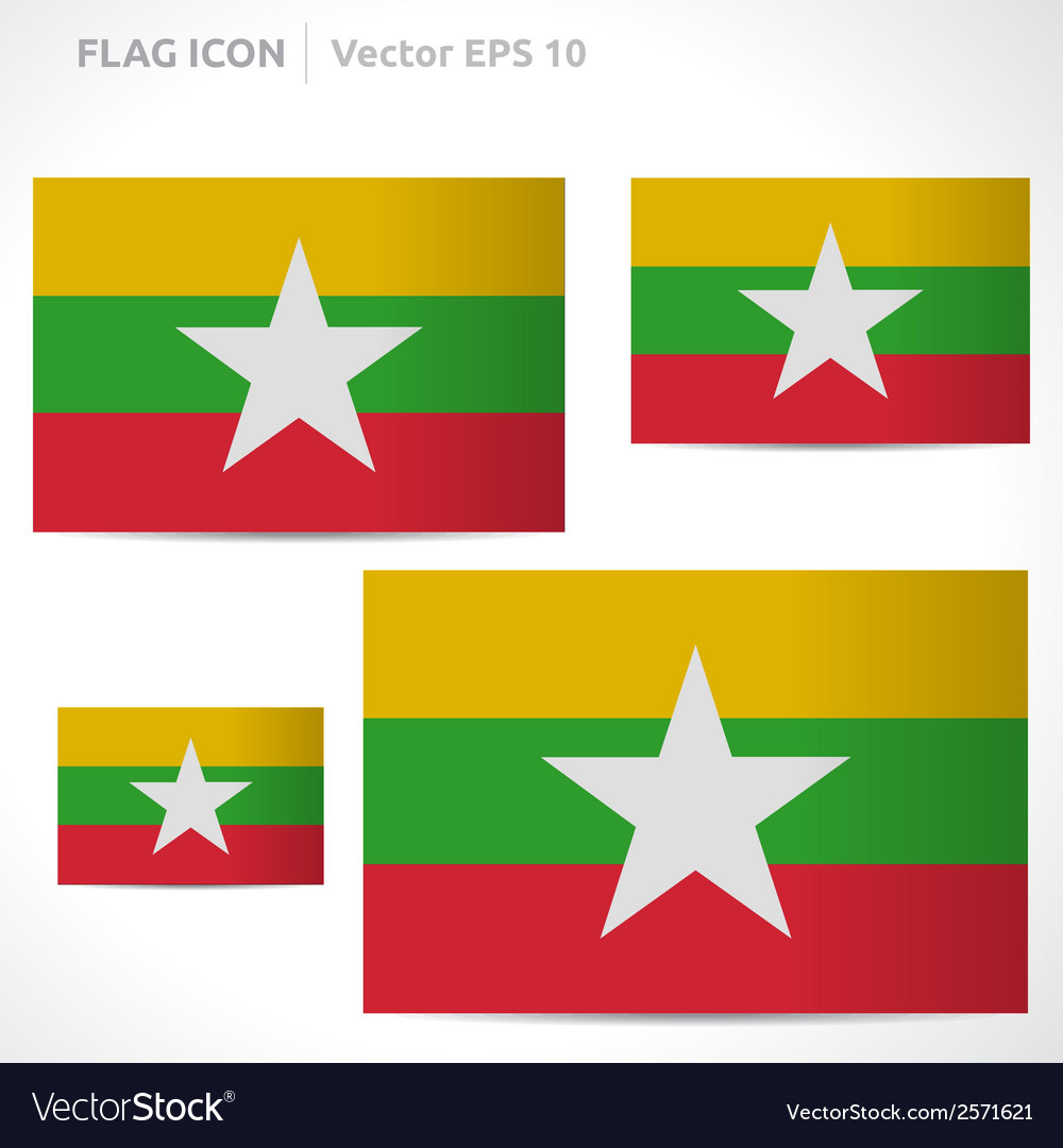 Myanmar flag template vector | Price: 1 Credit (USD $1)