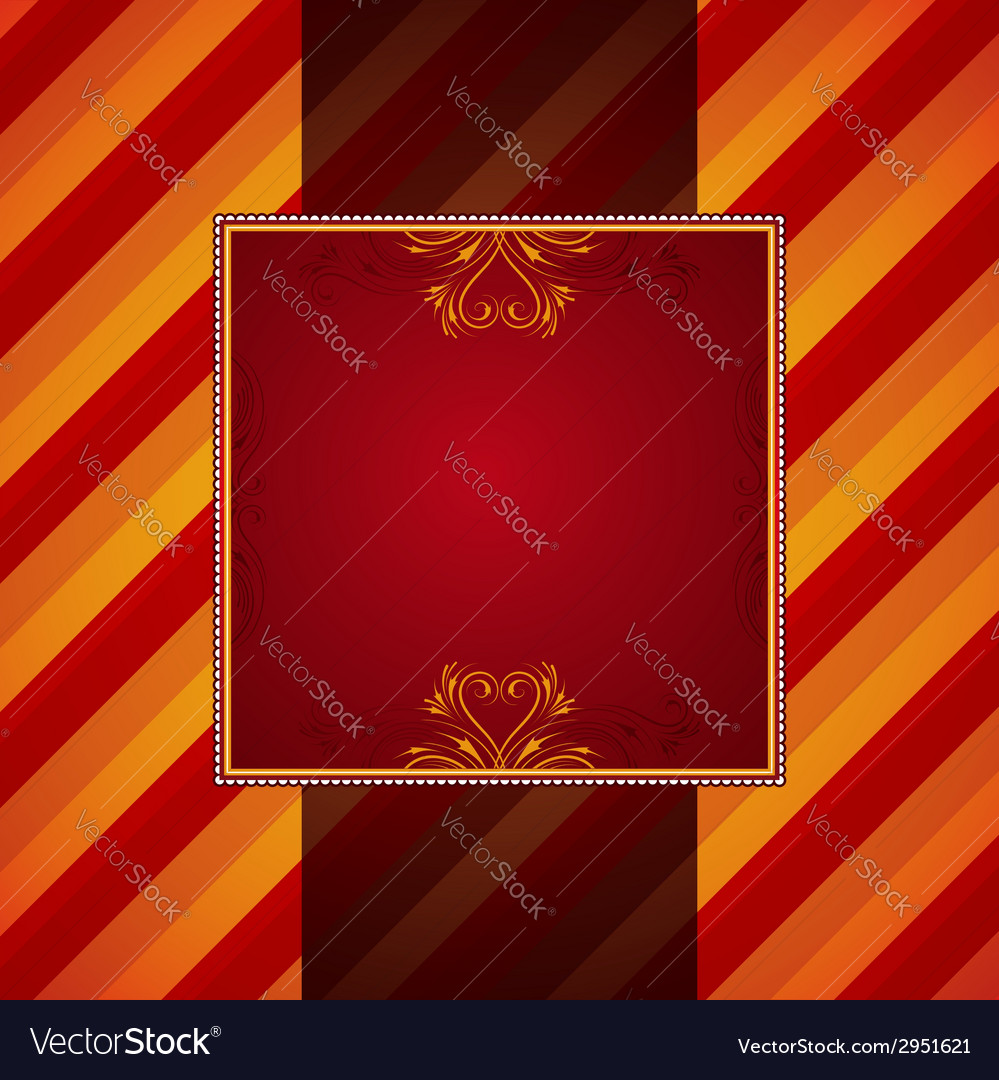 Red striped background with decorative ornaments vector | Price: 1 Credit (USD $1)