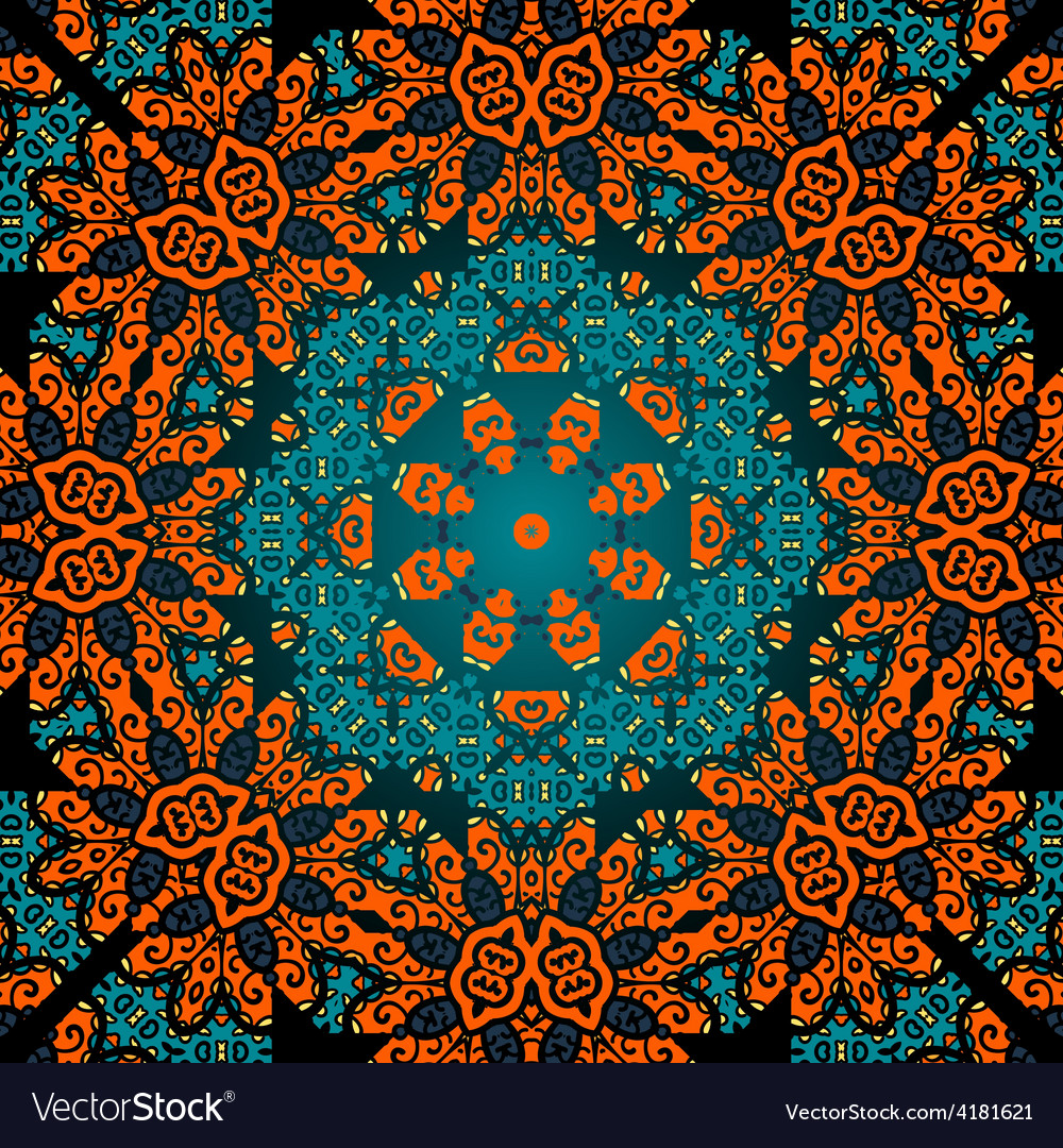 Seamless psychedelic paisley background vector | Price: 1 Credit (USD $1)