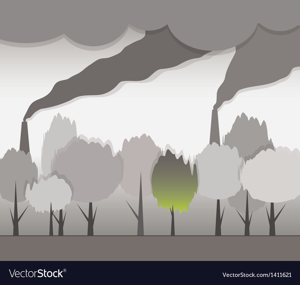 Smoke and contaminated environment vector | Price: 1 Credit (USD $1)
