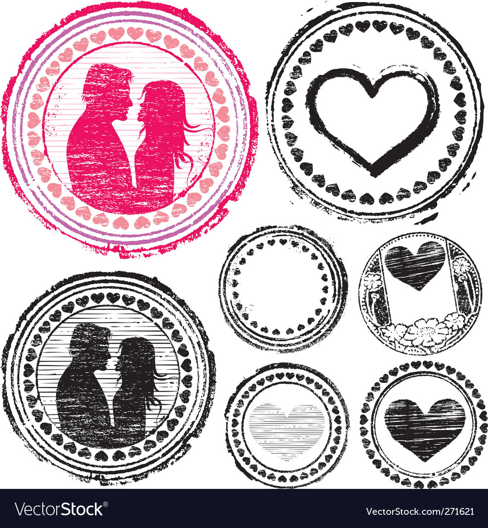 Stamp of love vector | Price: 1 Credit (USD $1)