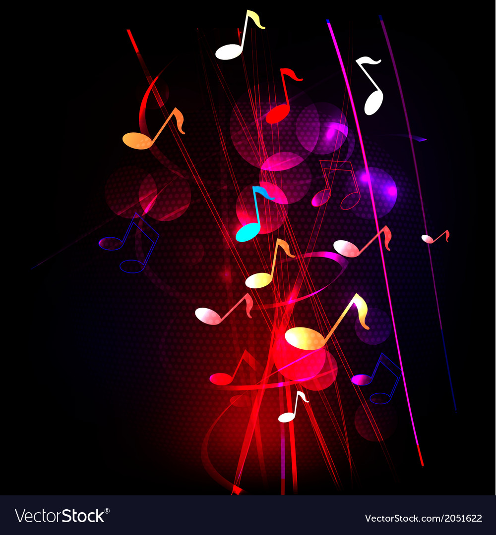 Abstract colorful musical background vector | Price: 1 Credit (USD $1)