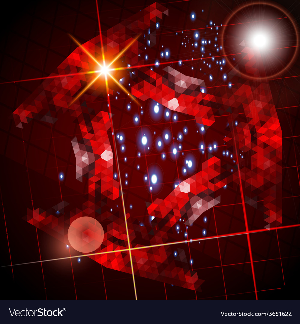 Abstract dark lens flare technology background vector | Price: 1 Credit (USD $1)