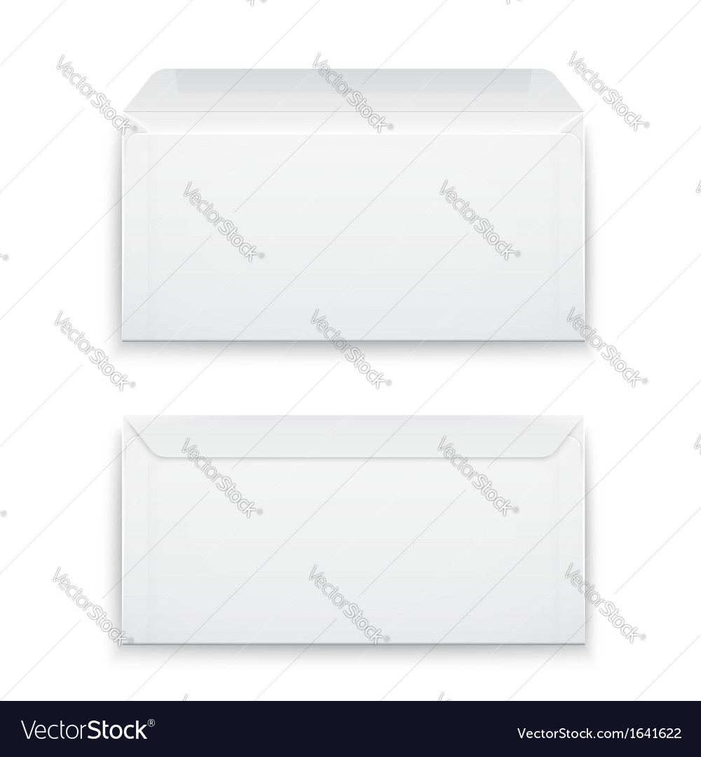 Blank envelopes on white background vector | Price: 1 Credit (USD $1)