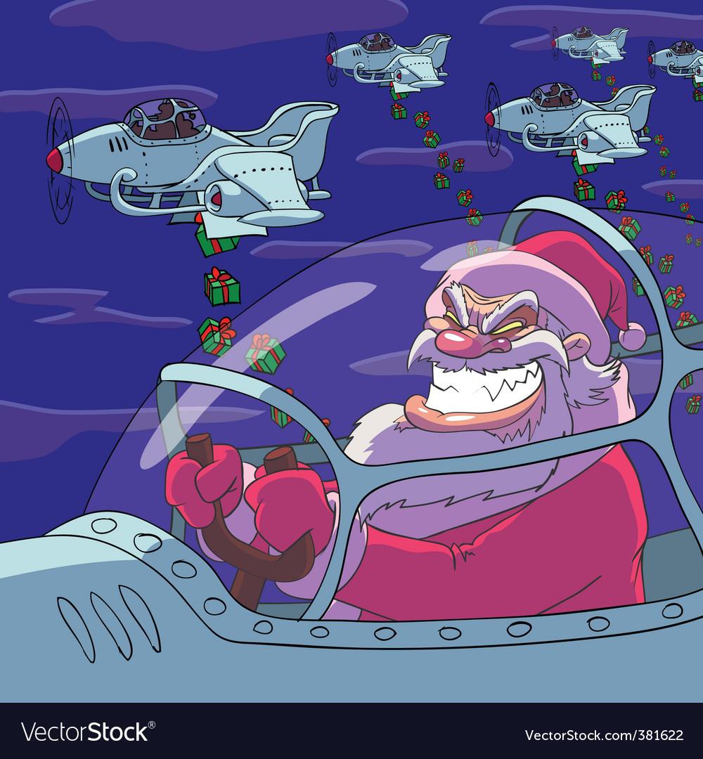 Christmas gift bombing vector | Price: 3 Credit (USD $3)