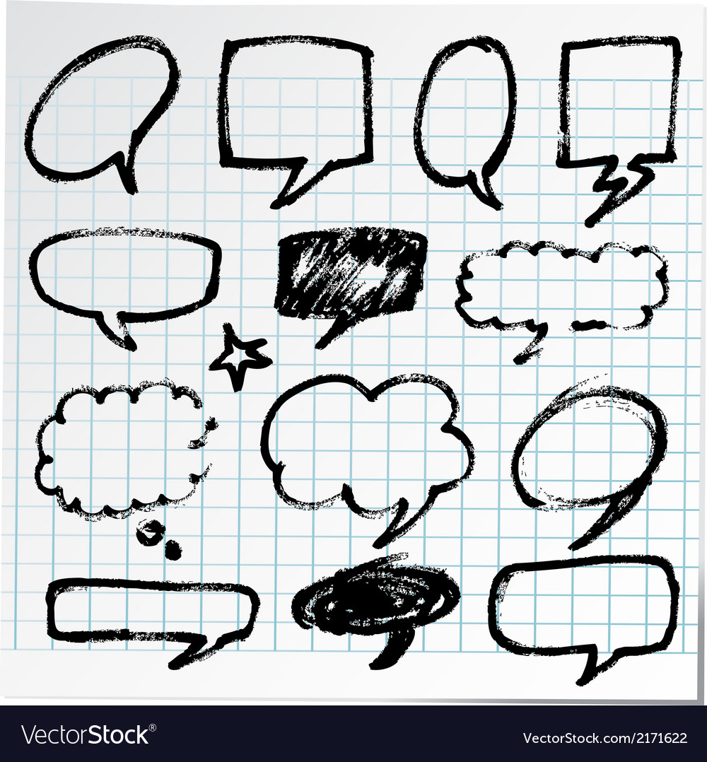Collection of hand-drawn black pen on paper vector | Price: 1 Credit (USD $1)