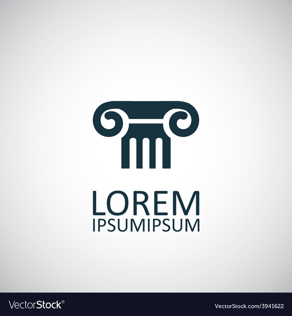 Column icon vector
