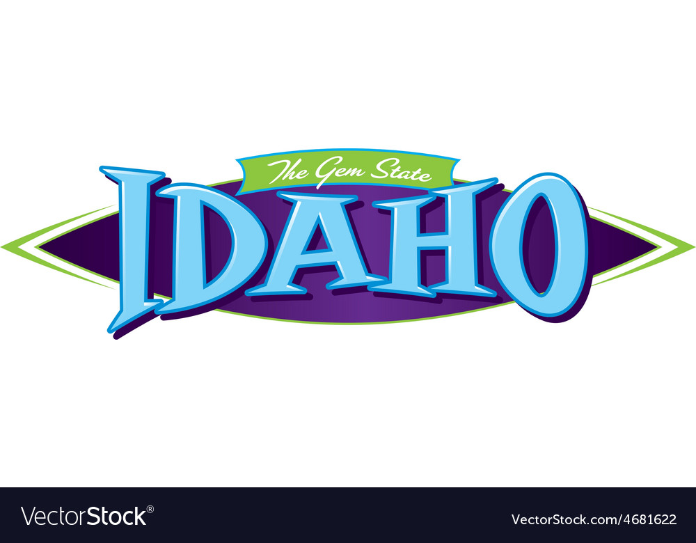 Idaho the gem state vector | Price: 1 Credit (USD $1)