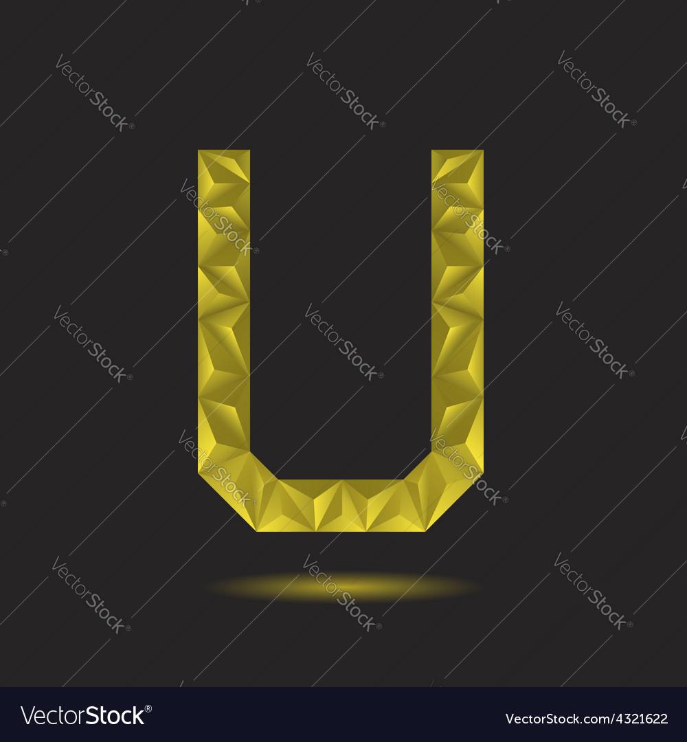 Letter u vector | Price: 1 Credit (USD $1)