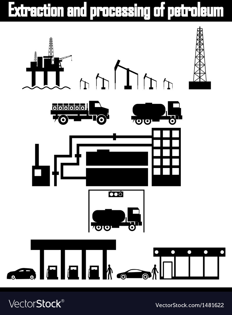 Oil production equipment vector | Price: 3 Credit (USD $3)