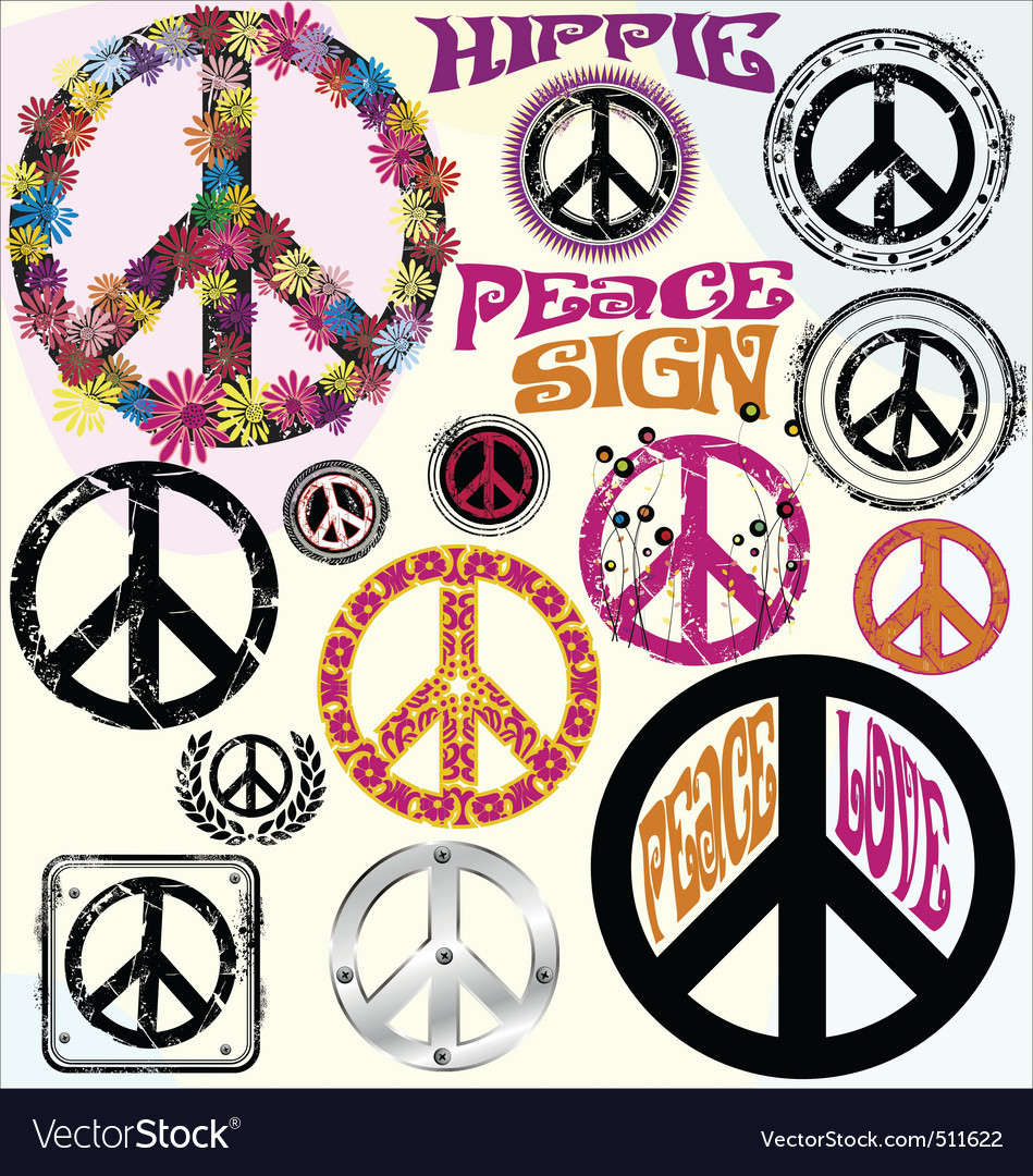 Peace symbols vector | Price: 1 Credit (USD $1)