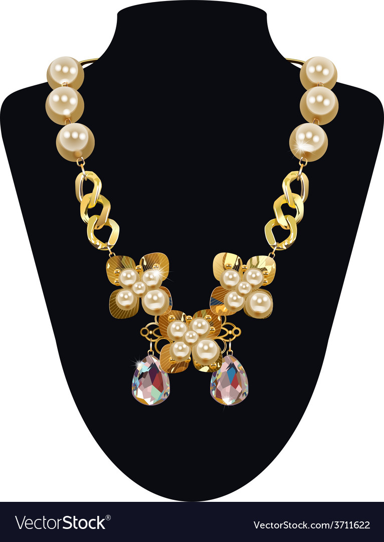 Pearl necklace vector | Price: 3 Credit (USD $3)