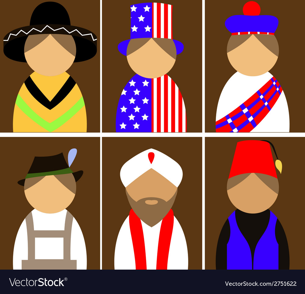 People in national dress vector | Price: 1 Credit (USD $1)