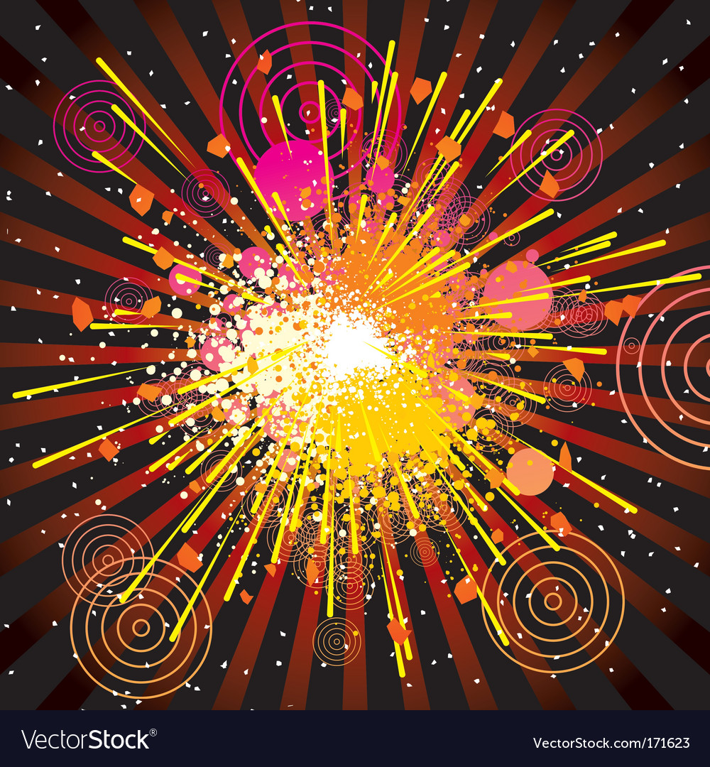 Abstract explode vector | Price: 1 Credit (USD $1)
