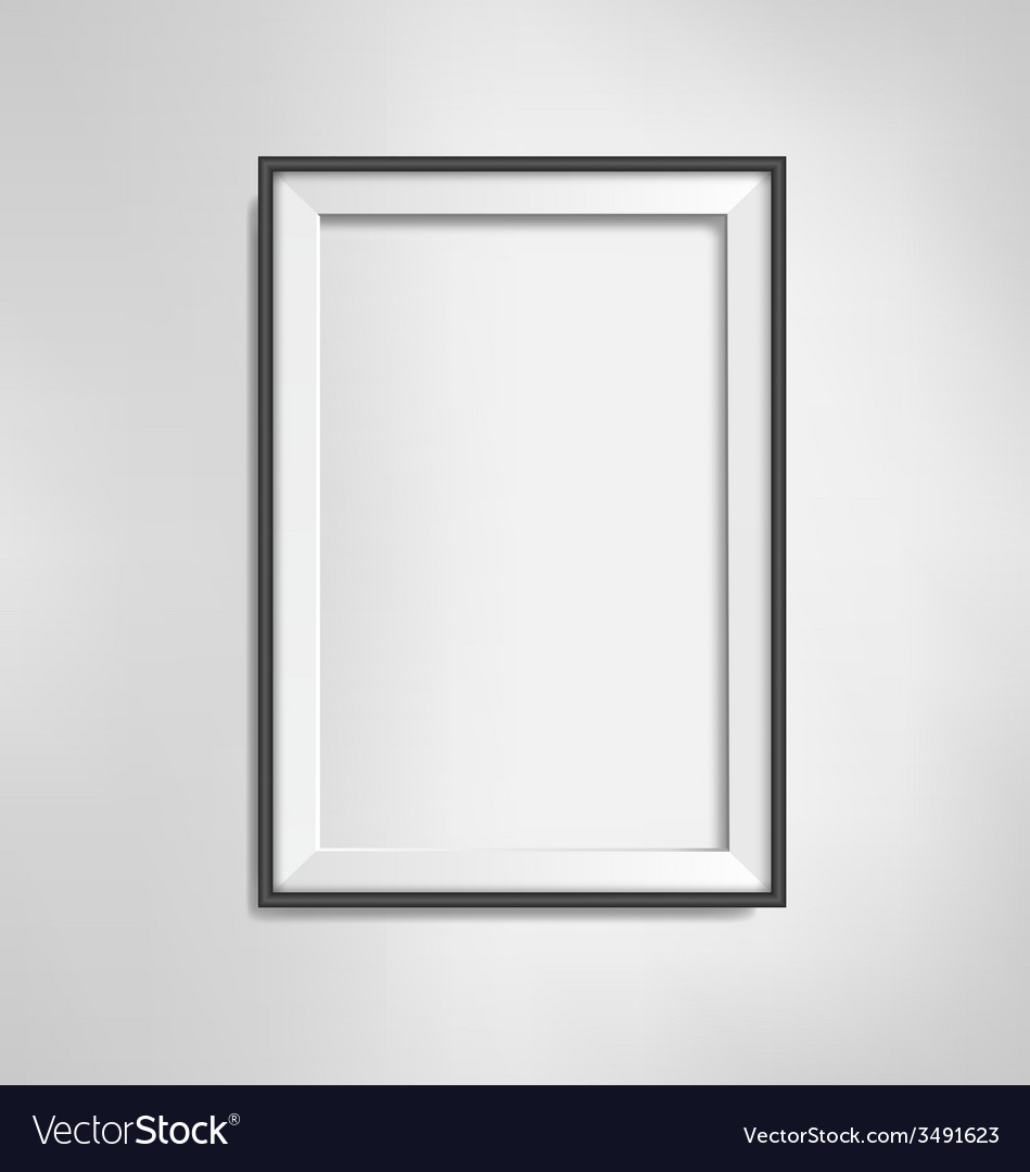 Black frame on grayscale background vector | Price: 1 Credit (USD $1)