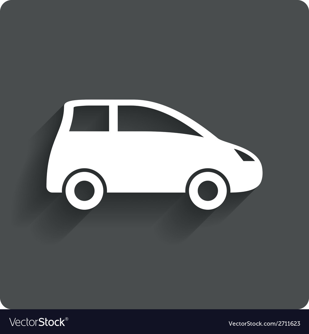 Car sign icon hatchback symbol vector | Price: 1 Credit (USD $1)