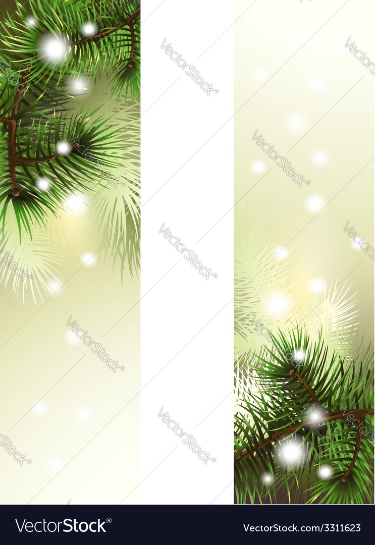 Christmas green banner vector | Price: 1 Credit (USD $1)