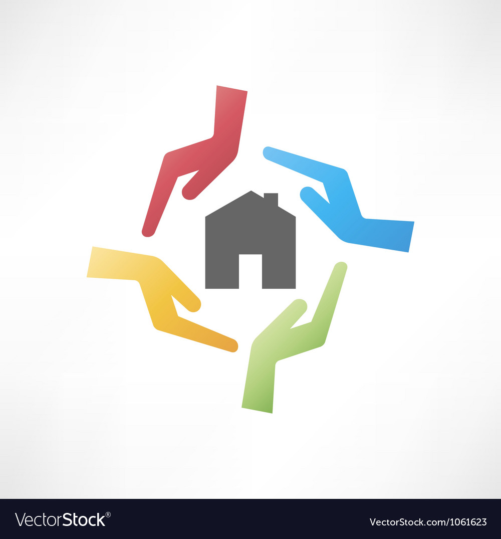 Concept of safe house vector | Price: 1 Credit (USD $1)