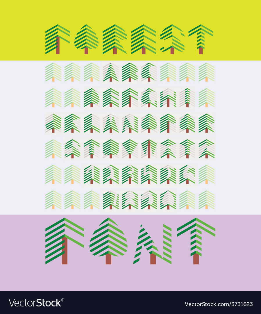 Forest font vector | Price: 1 Credit (USD $1)