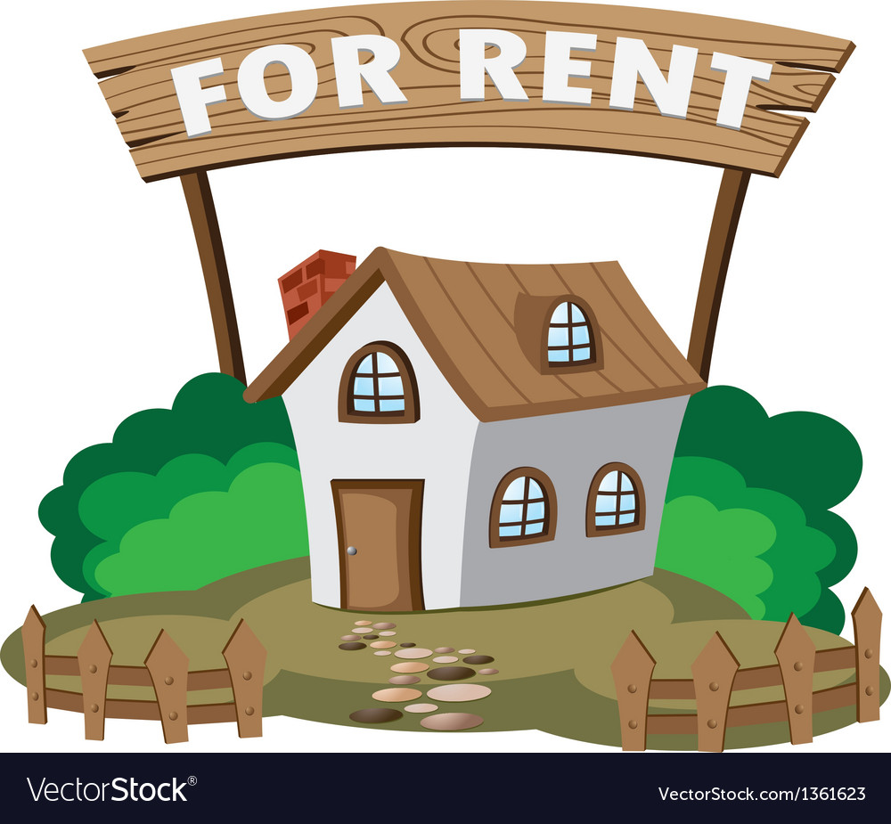 House for rent vector | Price: 1 Credit (USD $1)