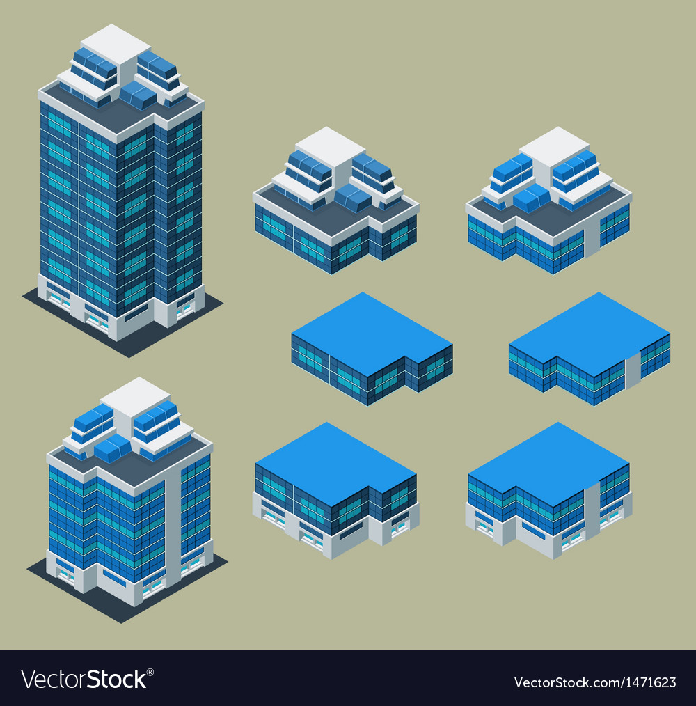 Isometric apartment vector | Price: 1 Credit (USD $1)