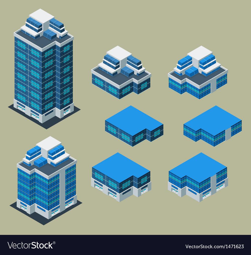 Isometric apartment vector | Price: 1 Credit (USD $1)