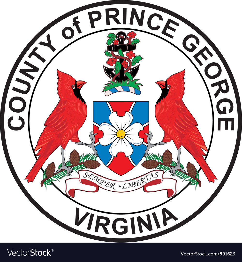 Prince georges county seal vector | Price: 1 Credit (USD $1)