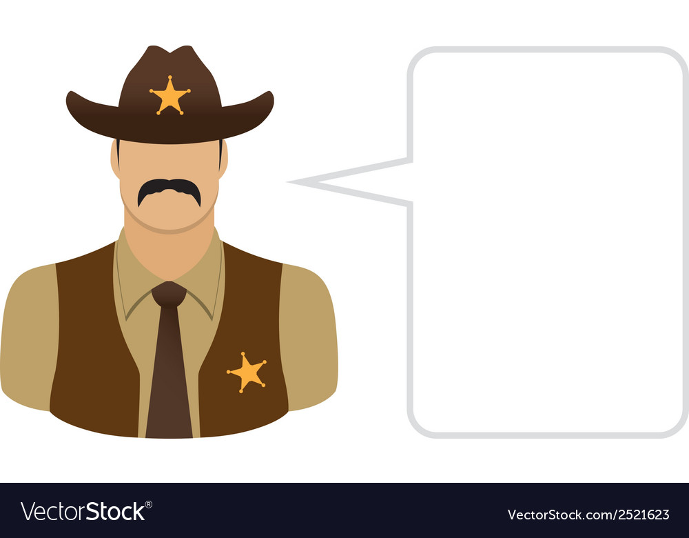 Sheriff avatars and user icons vector | Price: 1 Credit (USD $1)