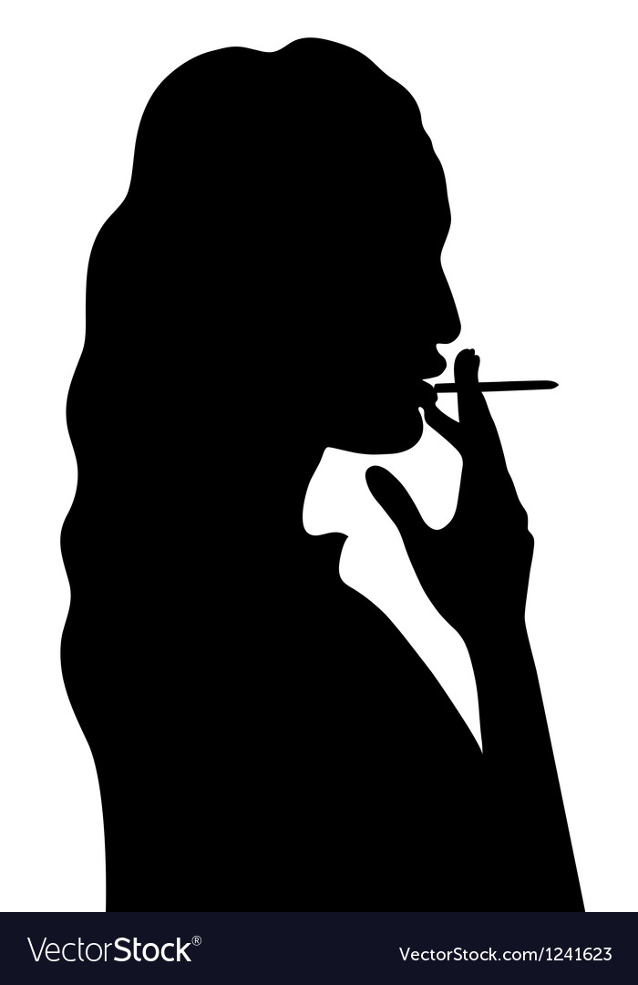 Smoking woman vector | Price: 1 Credit (USD $1)