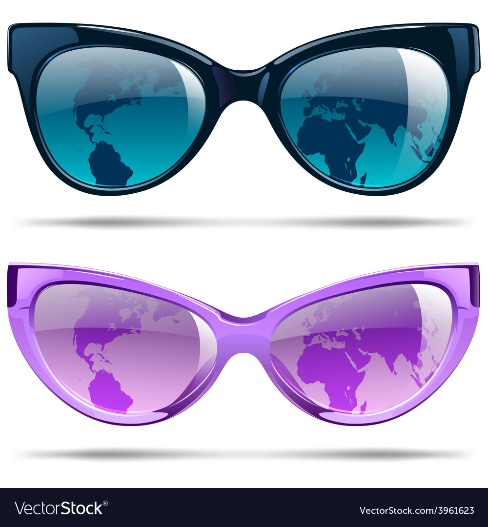 Sunglasses set vector | Price: 1 Credit (USD $1)